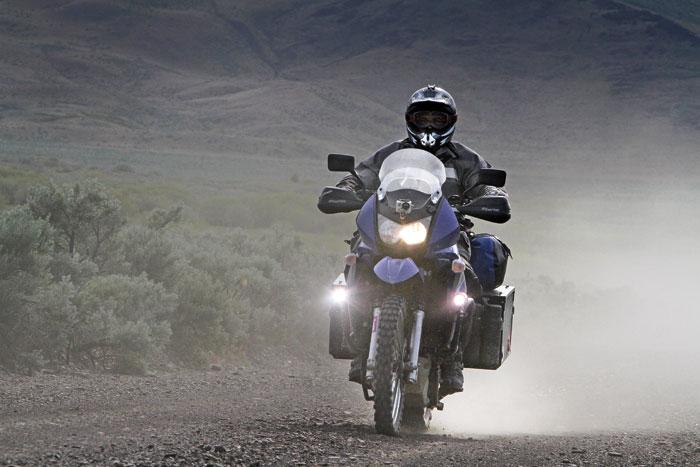 Las luces en la motocicleta