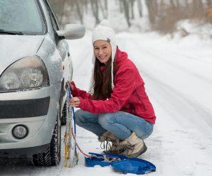 Cómo poner las cadenas de nieve en el vehículo